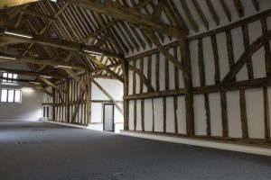 Grade II listed timeber frame barn conversion