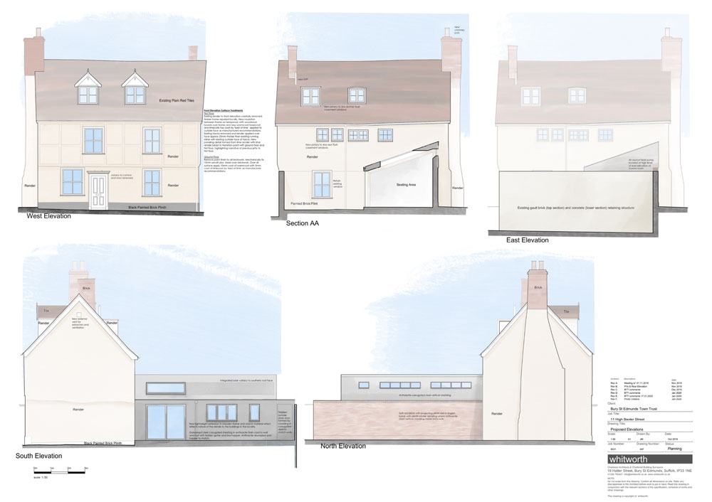 Architectural plans for 11 High Baxter Street